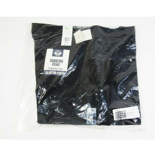 Dockers Men's Black Classic Fit Signature Khaki Stretch Pants Size 38x32 *NWT*