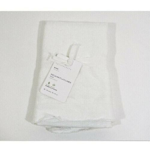 "Pottery Barn White King Belgian Flax Linen Pillow Sham, Sham Only 36"" x 20"" *NWT"
