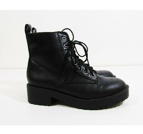 Divided by H & M Women's Black Combat Boots Size 5.5/36