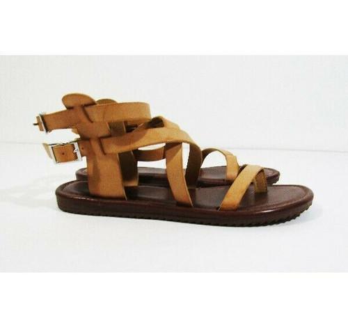 Seven Dials Women's Tan Open Toe Strappy Sandals Size 6