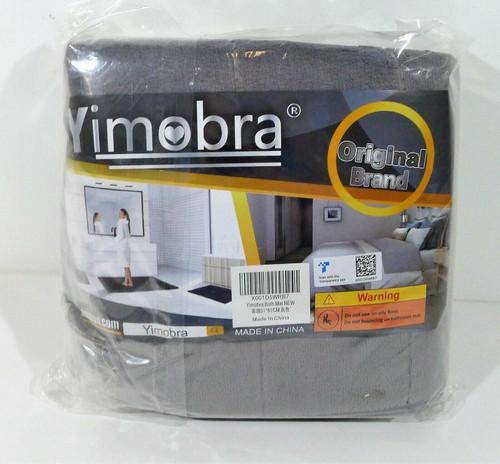 Yimobra Gray Memory Foam Bath Mat Large Size 31.5 x 19.8 Inches - NEW