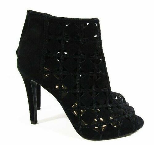 "Michael Kors Women's Black Leather Perforated Heels w/ 4"" Heel Size 7M"