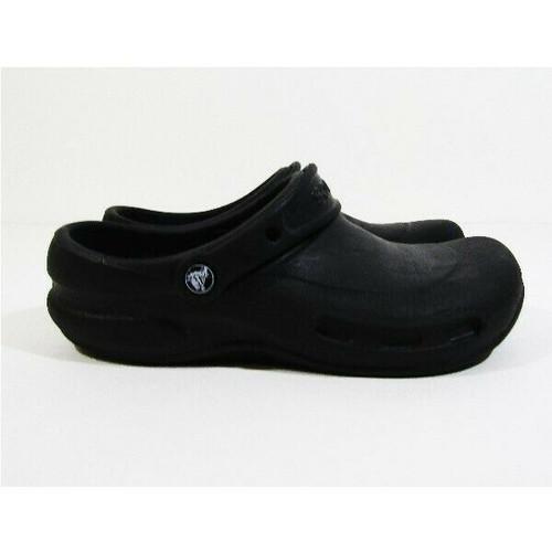 Crocs Unisex Black Classic Closed Toe Slip-On Shoes Size 7 Men / 9 Women