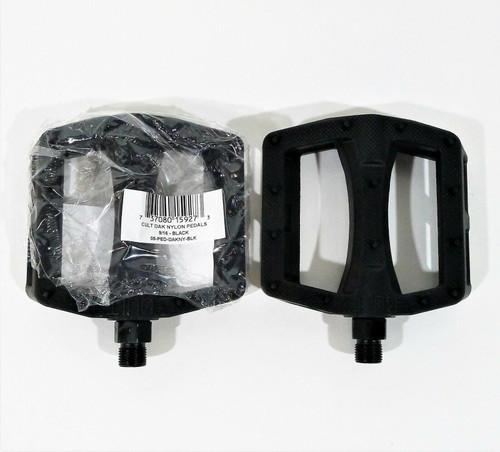 "Cult Dak Pedals (2) Platform Composite/Plastic 9/16"" Black"