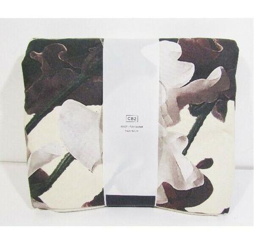 "CB2 Blooma Floral Full/Queen Duvet Cover 100% Cotton 88"" x 92"" / 224cm x 234cm"