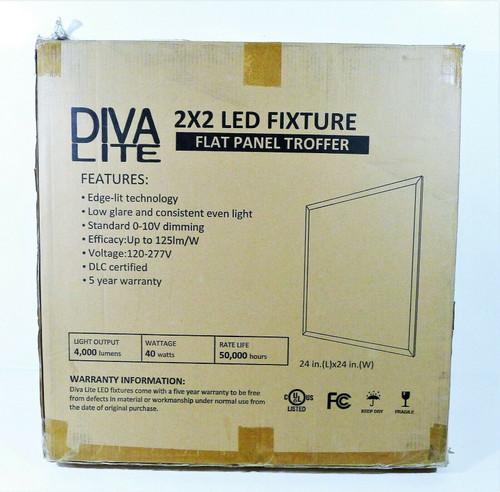 2 DivaLite FPS22-40L-50K-D10 2x2 LED Panel Lights LOCAL PICKUP ONLY, AUSTIN TX