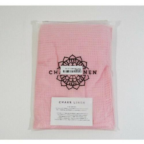 Chakr Linen Women's Pink Waffle Bath Wrap w/ Pocket Size L/XL **NEW IN PACKAGE