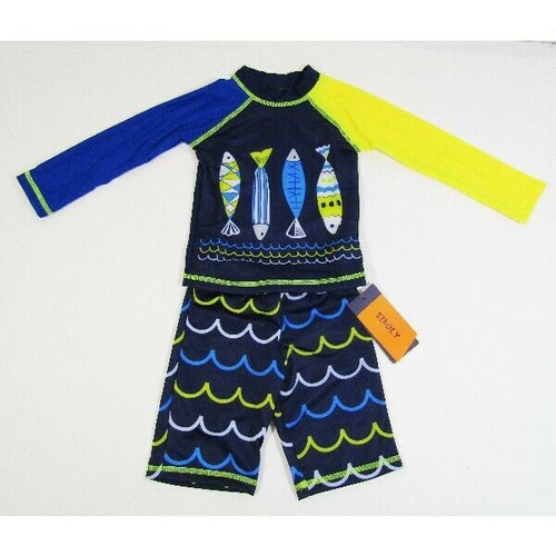Sinoly Boys Two Piece Rash Guard Swimsuit Set Size 2T/XS **NEW WITH TAGS**