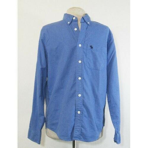 Abercrombie & Fitch Men's Blue Casual Button Down Shirt Size Medium