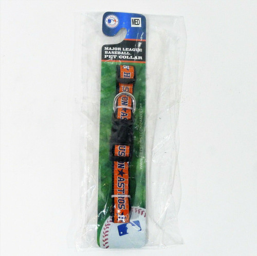 Houston Astros Pet Collar by Pets First Size Medium - NEW