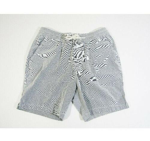 Abercrombie & Fitch Men's Blue & White Seersucker Shorts w/ Drawstring Size S
