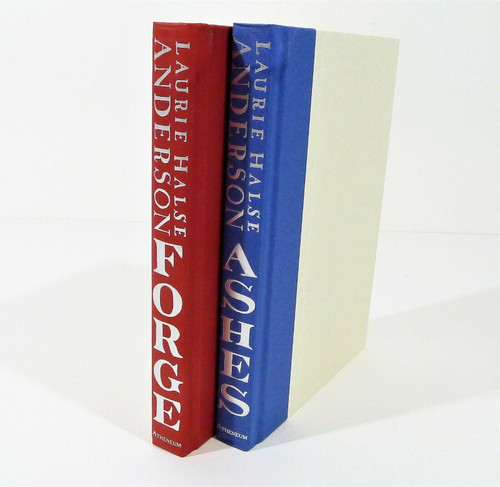 Set of 2 - Forge and Ashes Hardback Books Laurie Halse Anderson - *NO DUSTCOVERS