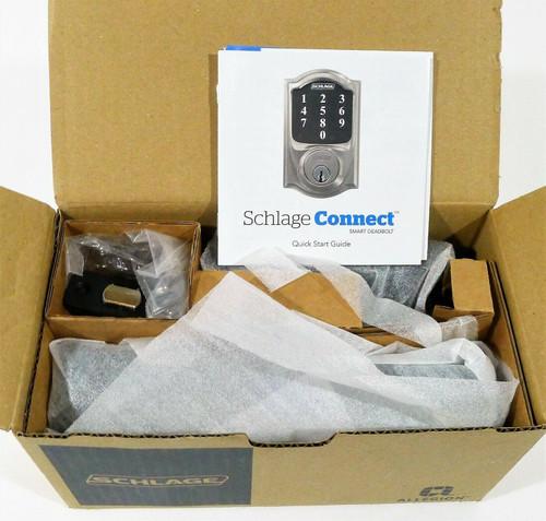 Schlage Electronic Touchscreen Deadbolt BE469ZP CEN 622 in Matte Black OPEN BOX