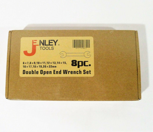 Jenley Tools 8 Piece Double Open End Wrench Set - NEW SEALED