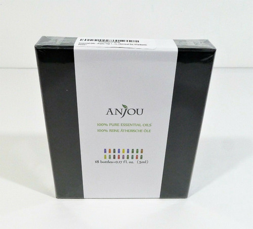 Anjou 100% Pure Essential Oils Aromatherapy 18 Bottles x 0.17 fl oz - NEW SEALED