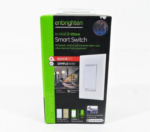 GE Enbrighten White/Almond In-Wall Z-Wave Smart Switch 46201-1  **NEW SEALED