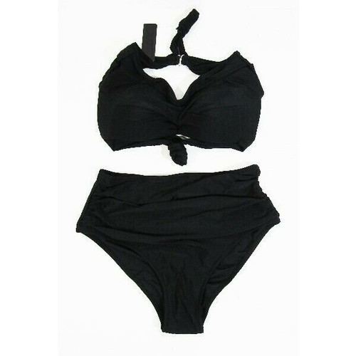 Tempt Me Women's Black 2 Piece High Waisted Bikini Size M **NEW WITH TAGS**