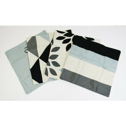"""Jojusis Set of 4 Modern Geometric Throw Pillow Covers 16"""" x 16"""" **NEW IN PACKAGE"""