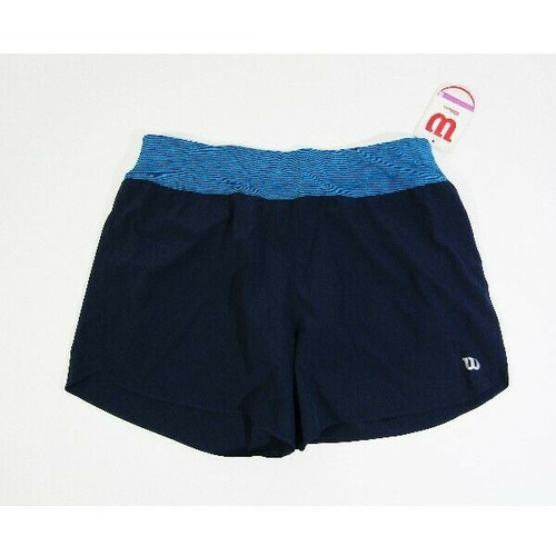 Wilson Women's Navy Blue Lightweight Sporty Tennis Shorts Size M **NEW WITH TAGS