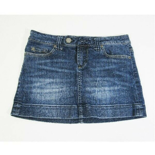 American Eagle Outfitters Women's Medium Wash Mini Skirt Size 2