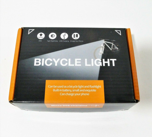 Ovetour USB Rechargeable Front Headlight Back Taillight Bicycle Light - OPEN BOX