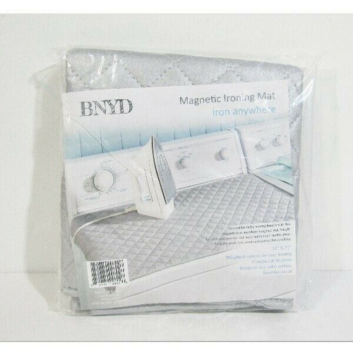 """BNYD Gray Portable Magnetic Ironing Mat 18"""" x 31"""" **NEW IN PACKAGE**"""
