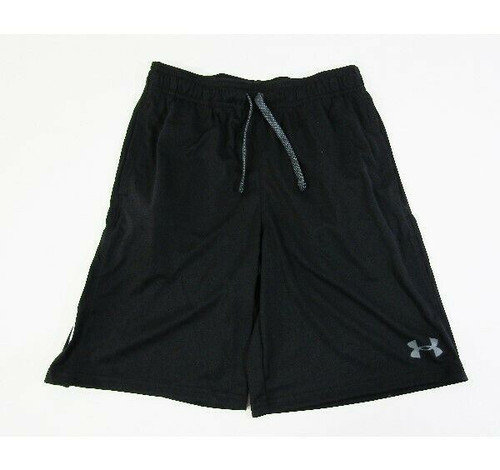 Under Armour Heat Gear Boys Black Loose Fit Athletic Shorts Size Youth M **NWT**