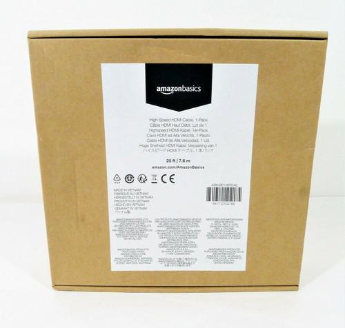 AmazonBasics 25 Feet High-Speed HDMI Cable - NEW SEALED