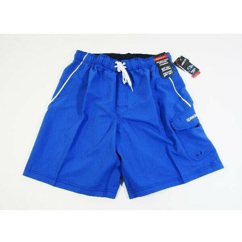 "Speedo Men's Classic Blue Marina Volley 20"" Loose Fit Swim Trunks Size L **NWT**"