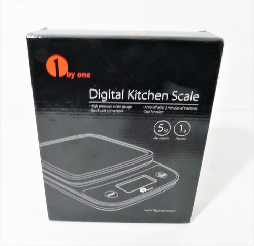 1byone Digital Kitchen Scale Food Weight Scales Grams Cooking 5KG - NEW