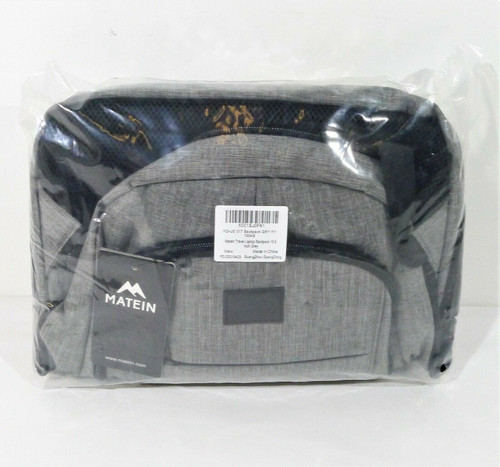 Matein Gray Travel Laptop Backpack 15.6 Inch  - NEW SEALED