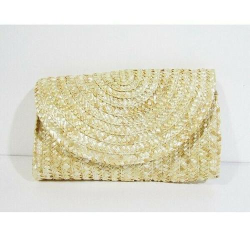 """Joseko Women's Summer Straw Clutch Handbag 10"""" x 6"""" x 2"""" **NEW IN PACKAGE**"""