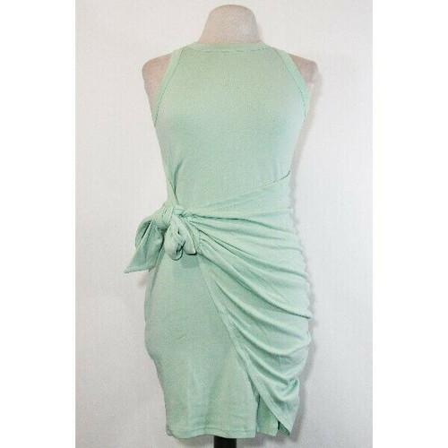 Liyohon Women's Green Sleeveless Side Tie Summer Dress Size S **NEW IN PACKAGE**