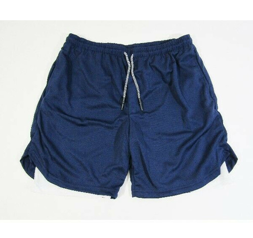 TLQLTS Men's Navy Blue 2-in-1 Workout Shorts w/ Pockets Size XL **NEW IN PACKAGE