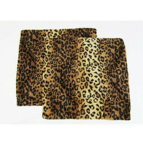 """Vrigsu 2 Piece Animal Print Plush Pillow Covers Size 17"""" x 17"""" **NEW IN PACKAGE*"""