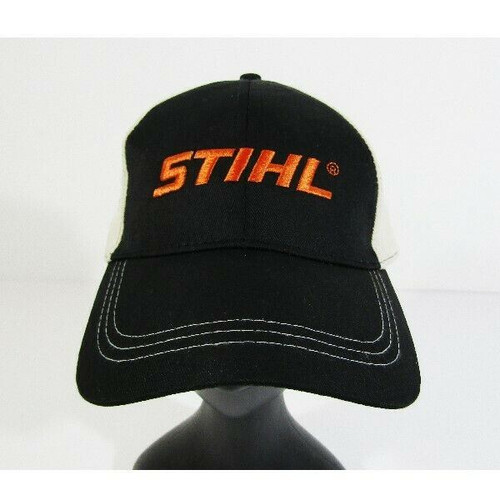 Stihl Outfitters Apparel Men's Black & Beige Adjustable Baseball Cap **One Size