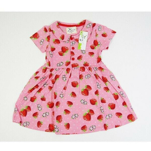 Jumping Meters Girls Pink Strawberry & Floral Dress Size 2T **NEW WITH TAGS**