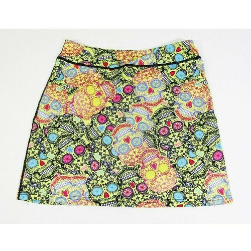Kimmery Women's Sugar Skull Athletic Tennis/Golf Skort Size L **NEW WITH TAGS**