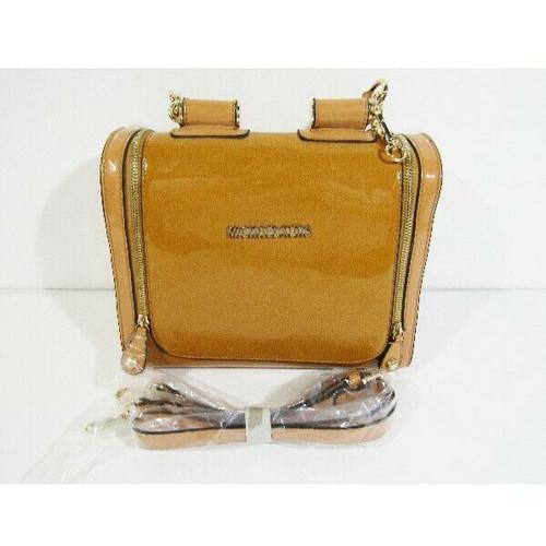 "Michael Kors Women's Tan Patent Leather Satchel/Handbag/Purse 10.5"" x 9"" x 6"""