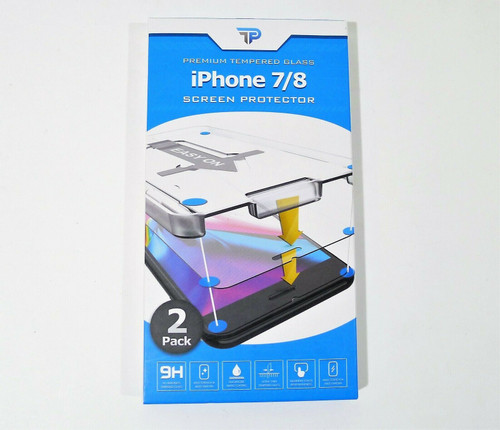 2 Pack Power Theory Premium Tempered Glass Screen Protector iPhone 7/8 - NEW