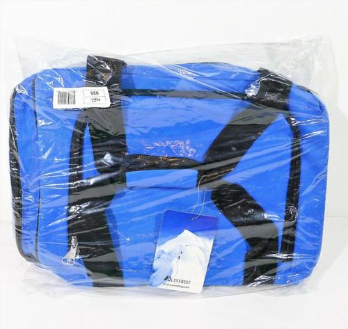 "Everest Royal Blue/Black Sporty Gear Bag Duffle Bag 25"" x 12"" x 12"" - NEW SEALED"