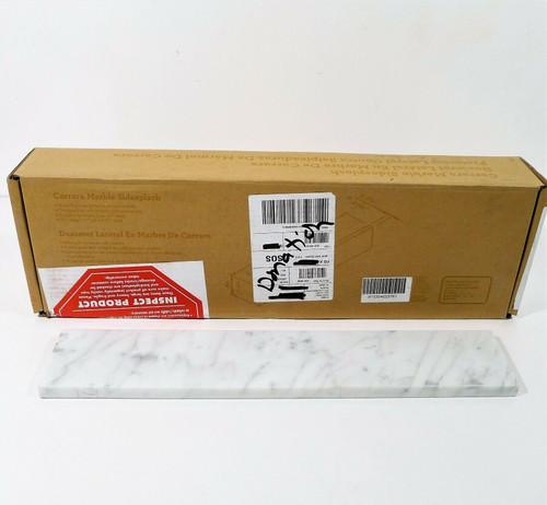 """Italian Carrara Natural Marble Bathroom Side Splash 21"""" L x 4"""" W x .75"""" D - NEW"""