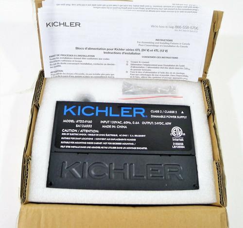 Kichler Black LED Dimmable Power Supply 60 Watt 24 Volt 6TD24V60BKT - OPEN BOX