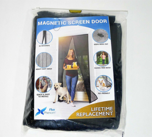 Flux Phenom Magnetic Screen Door Closure - Retractable Mesh Screen Doors *NEW