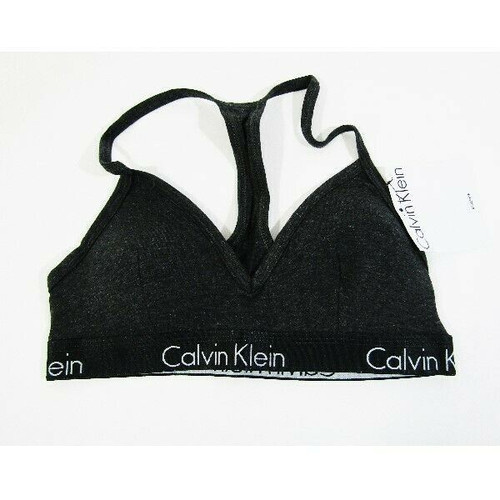 Calvin Klein Women's Gray Lightly Lined Bralette Size Small **NEW WITH TAGS**