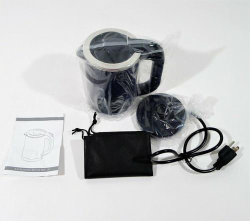 Iron Ren Black Travel Kettle 0.5L Stainless Steel Electric Tea Kettle - OPEN BOX