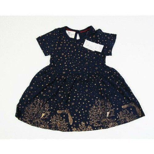 Jumping Meters Girls Starry Night Short Sleeve Dress Size 2T **NEW WITH TAGS**