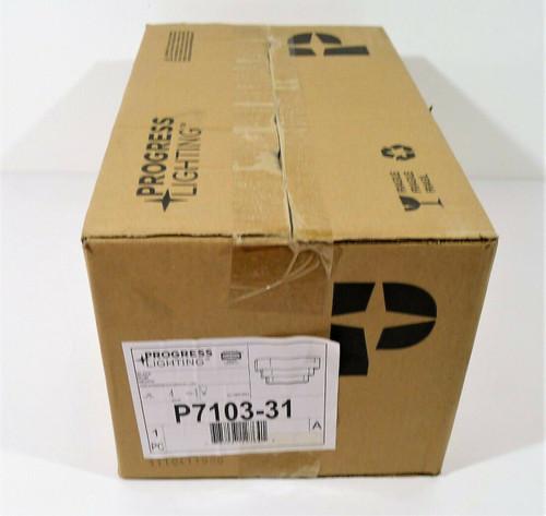 Progress Lighting Black Metal Tri-Band Louvered Sconce 100W  P7103-31 - OPEN BOX