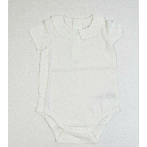 Pureborn Baby Boys White Collared One Piece Size 9-12 Months **NEW IN PACKAGE**