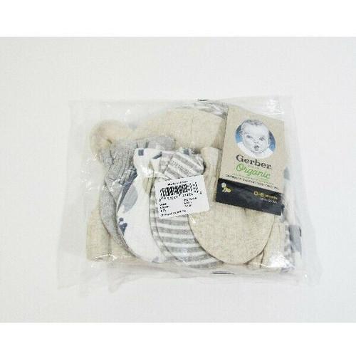 Gerber Organic Cotton Mittens & Beanies Set 0-6 Months **NEW IN PACKAGE